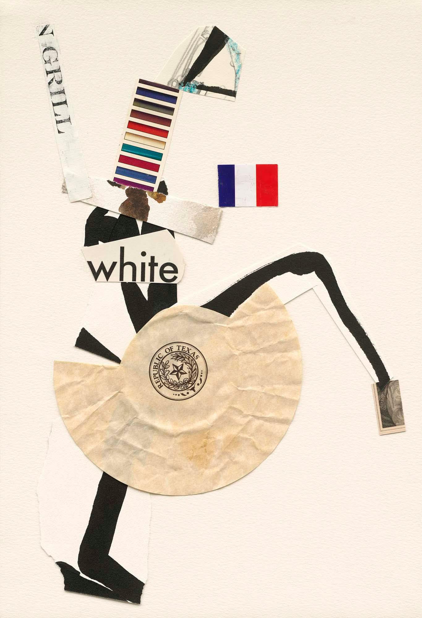 White, Mix Media Collage Series
