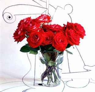 Red Roses Drawing