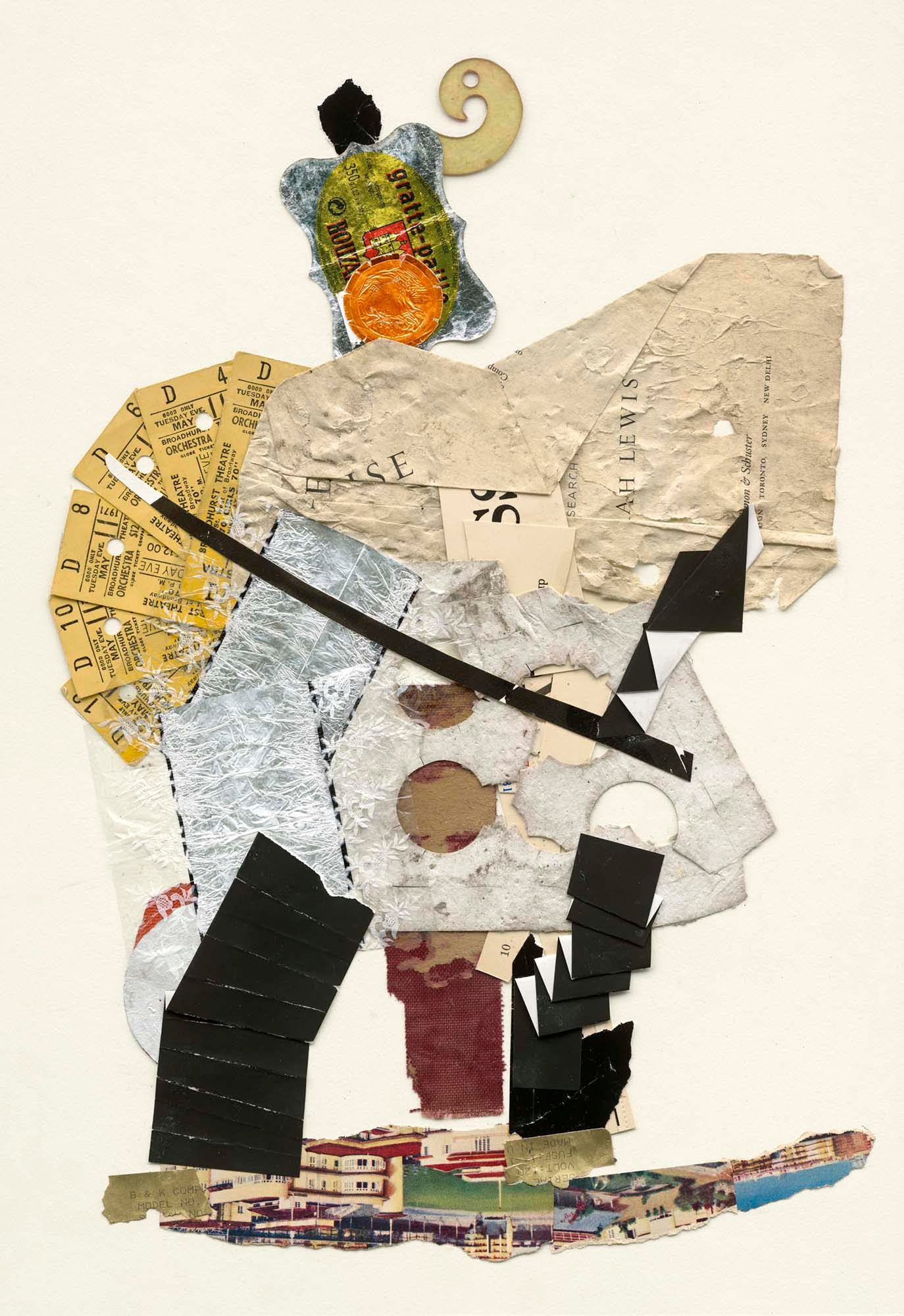 Samurai, Mix Media Collage Series