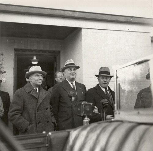 President Roosevelt at Greenbelt, Maryland