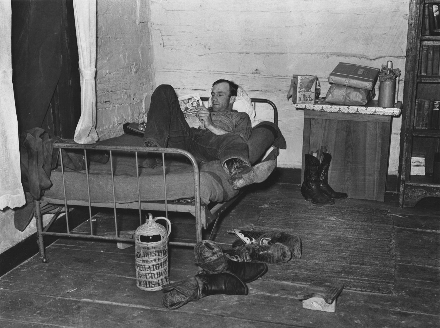 Ranch Hand in the Bunk House, Brewster, Montana