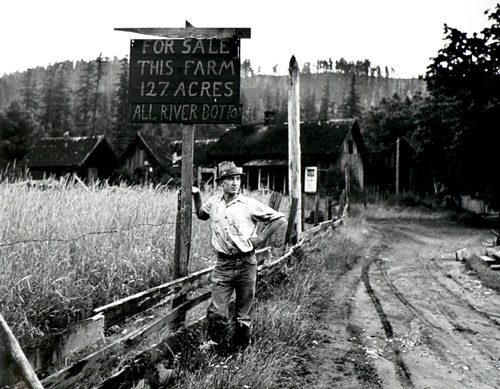 Owner of a Stump Ranch in the Cascades, near the McKenzie River, Oregon