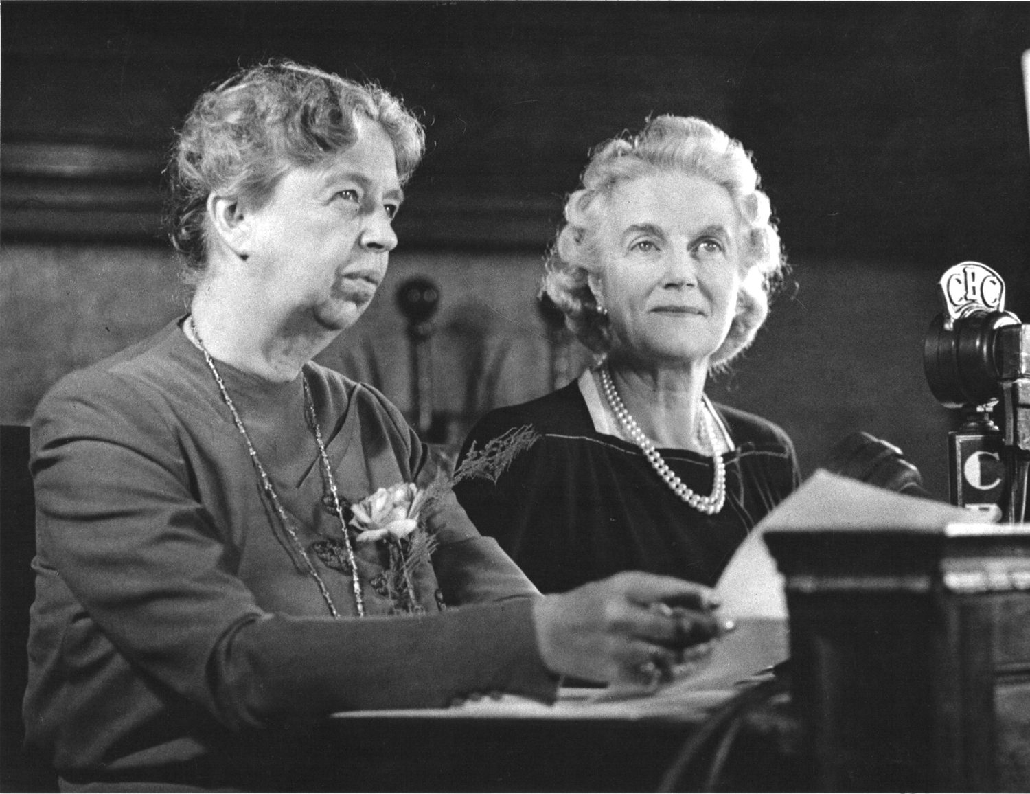 Eleanor Roosevelt and Clementine Churchill in Quebec, Canada