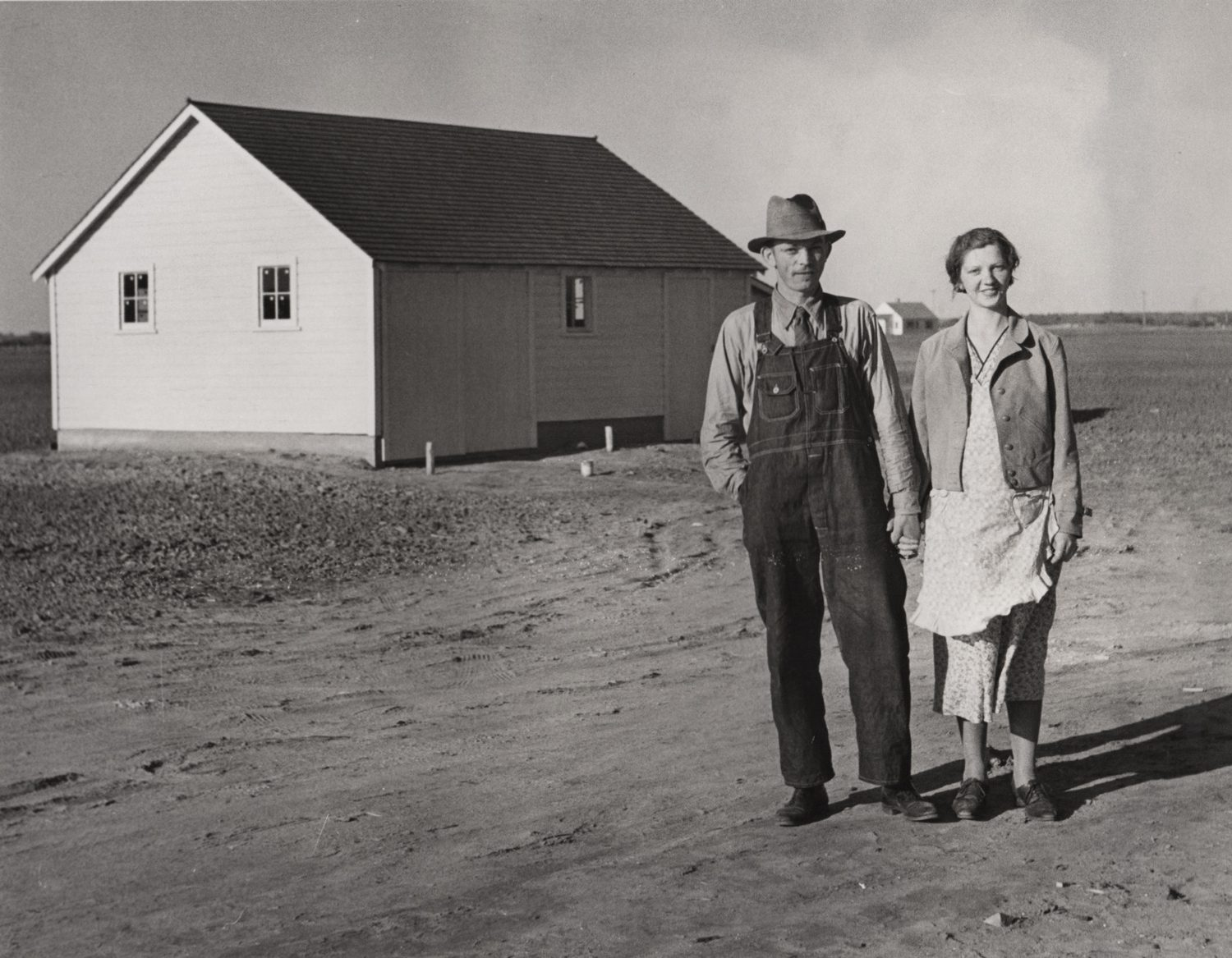 A young couple on their new farm, Douglas County, Nebraska