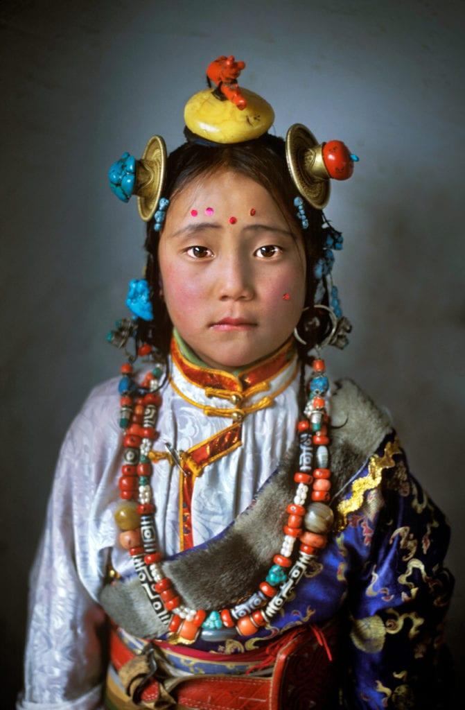 Tibet Girl, near Manigango, Kham, Tibet