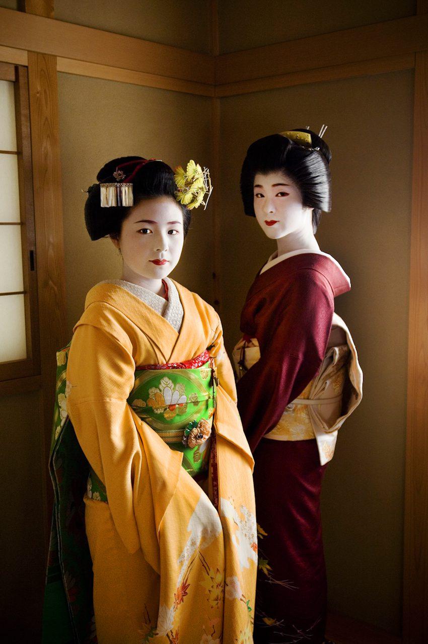 A Geisha and her Apprentice Maiko, Kyoto, Japan