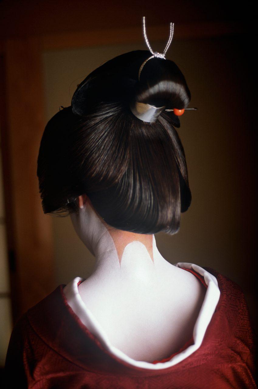 A Geisha's Sanbonashi Decoration, Kyoto, Japan
