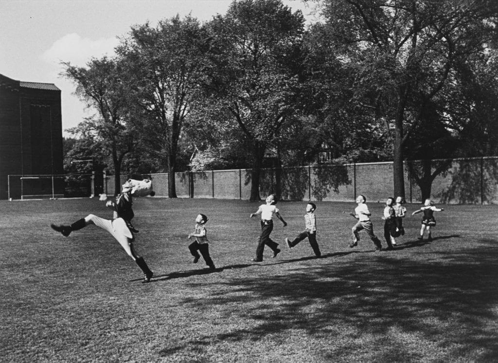 Drum Major and Children, University of Michigan