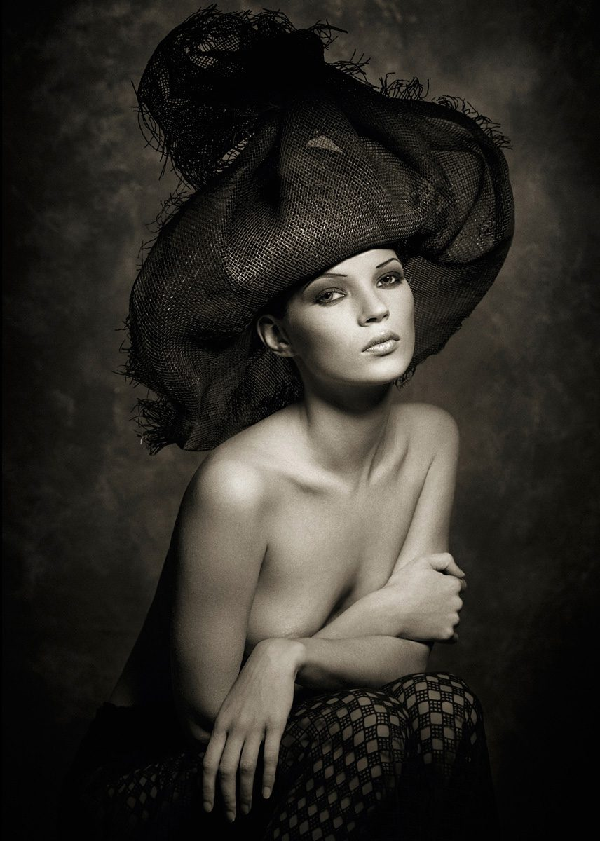Kate Moss in Hat, Marrakech