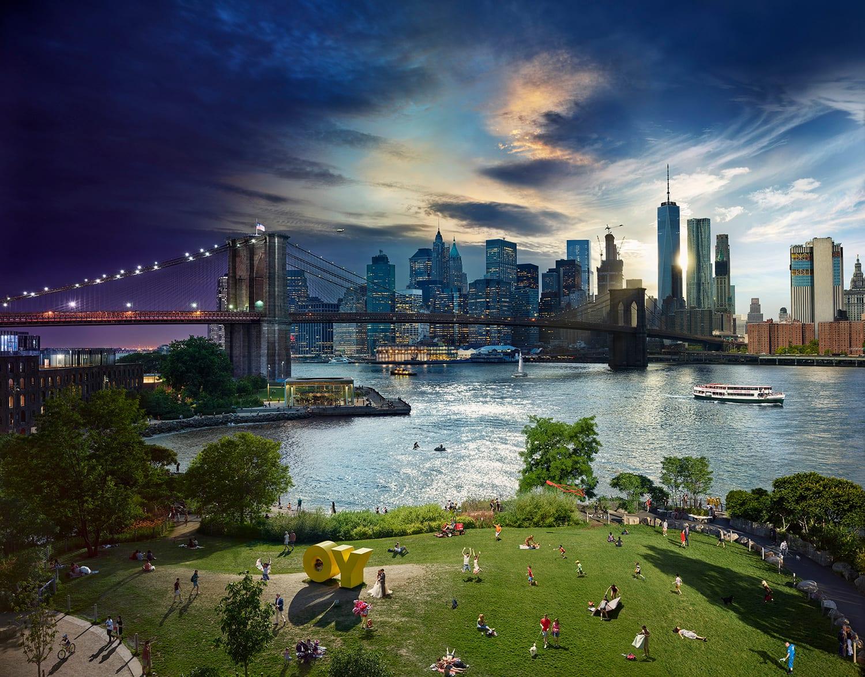 Stephen Wilkes Brooklyn Bridge Day To Night
