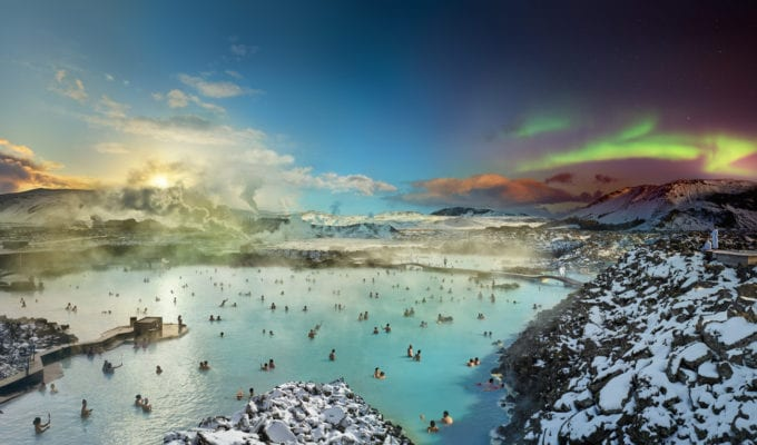 Stephen Wilkes, Blue Lagoon, Iceland (Day to Night)