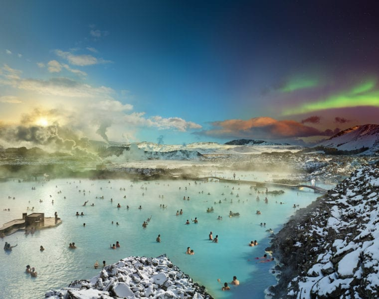 Stephen Wilkes, Blue Lagoon, Iceland, Day to Night