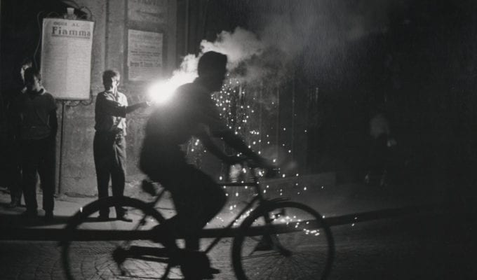 Sabine Weiss, Velo Nuit Naples (Bicycle At Night In Naples)