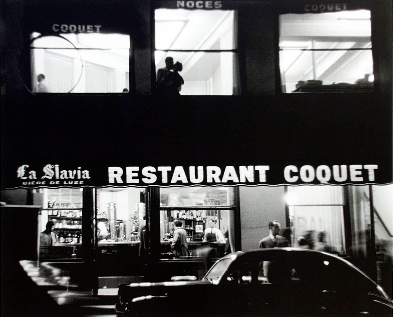 Sabine Weiss, Restaurant Coquet, Paris