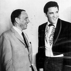 Keystone Press Agency, Frank Sinatra And Elvis Presley Laughing Together On Movie Set