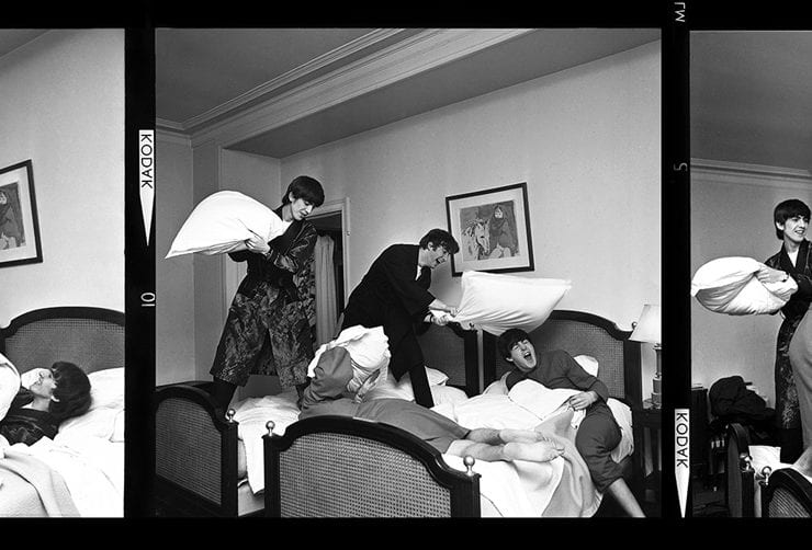 Harry Benson, The Beatles, Pillow Fight X3