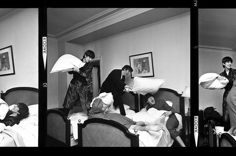 Harry Benson, The Beatles, Pillow Fight X3