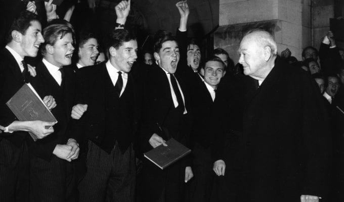 Harry Benson, Sir Winston Churchill At Harrow School