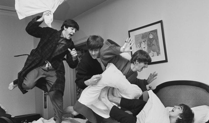 Harry Benson, Beatles Pillow Fight, Paris, 1964