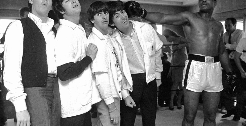 Harry Benson, Ali Hits George, Miami (Ali and The Beatles)