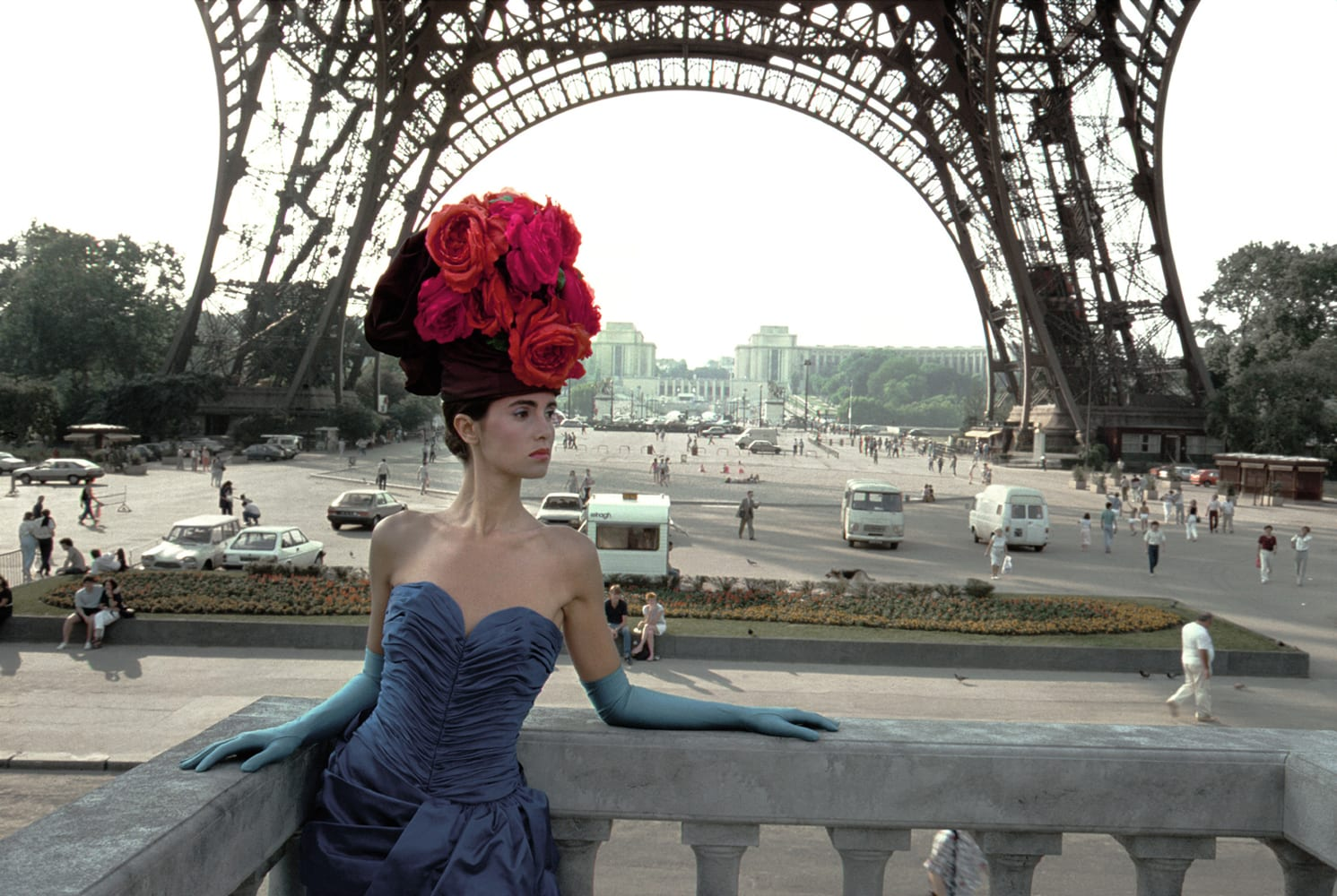 Frank Horvat, Patrizia (For Figaro Madame, Eiffel Tower), Paris