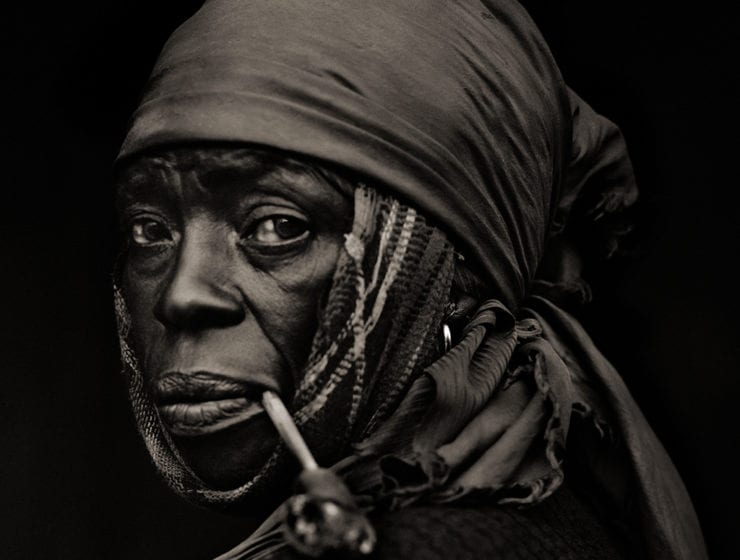 Dana Gluckstein, Woman With Pipe, Haiti
