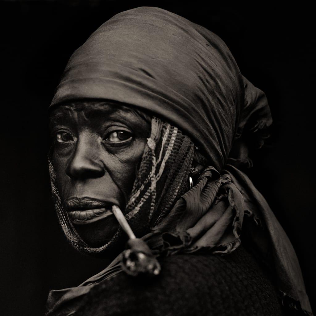 Dana Gluckstein, Woman With Pipe, Haiti