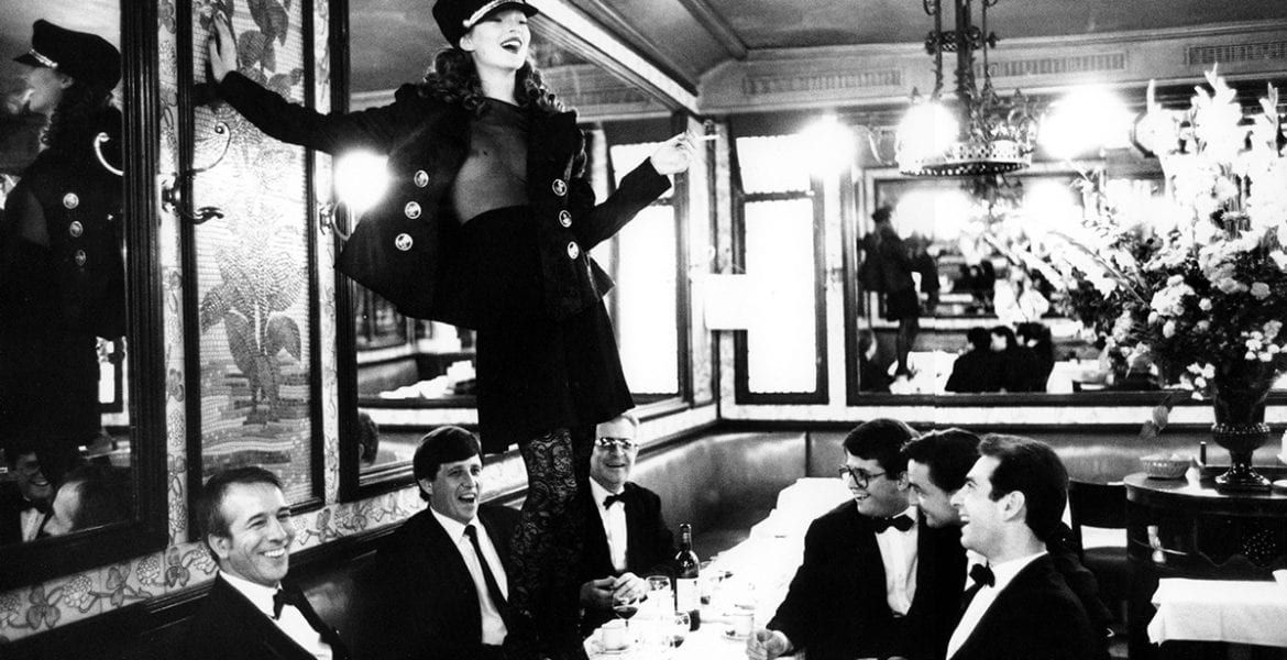Arthur Elgort, Kate Moss at Café Lipp in Paris, Italian Vogue