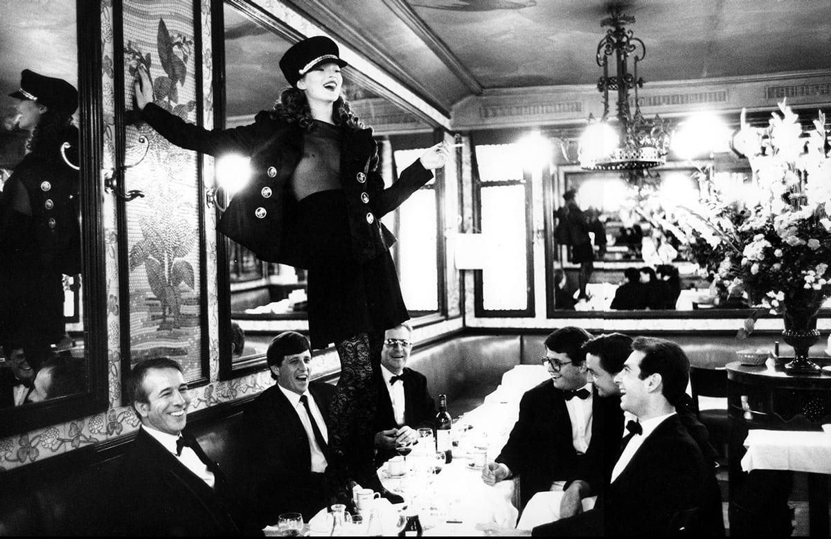 Arthur Elgort, Kate Moss at Café Lipp in Paris, Italian Vogue
