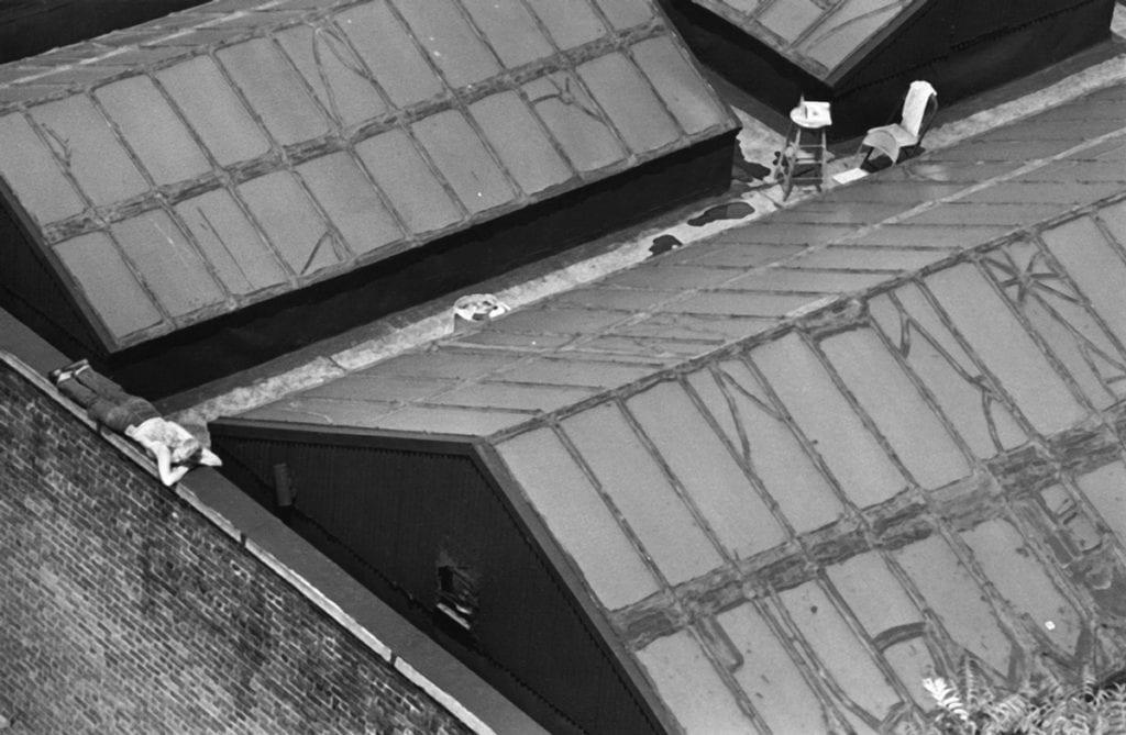 André Kertész, New York Painter on Roof