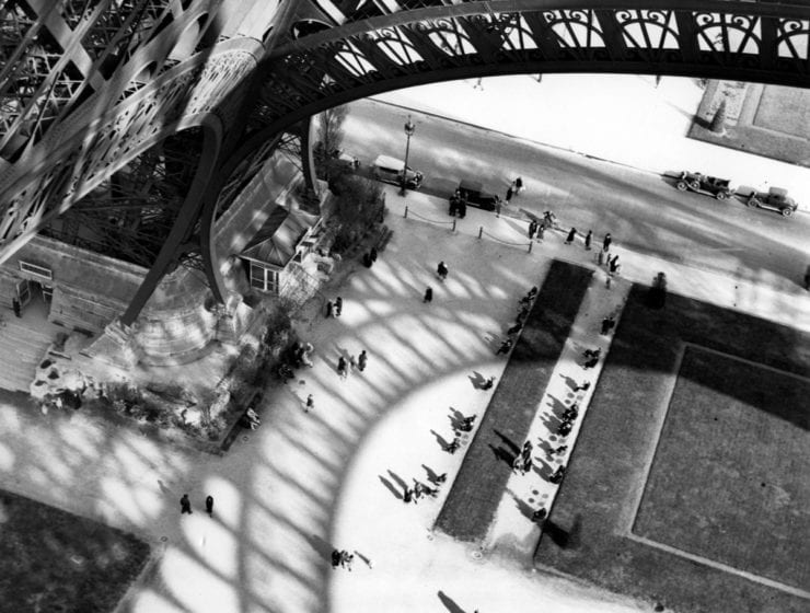 Andre Kertesz, Eiffel Tower from Above, 1929
