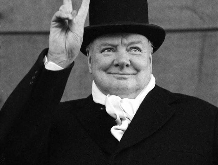 Alfred Eisenstaedt, Sir Winston Churchill Showing The V Sign, Liverpool