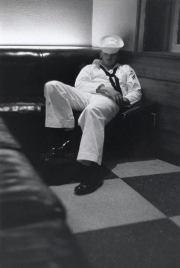 Louis Stettner, Penn. Station (Sailor Sleeping)