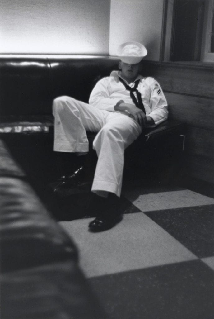 Louis Stettner, Penn. Station (Sailor Sleeping)