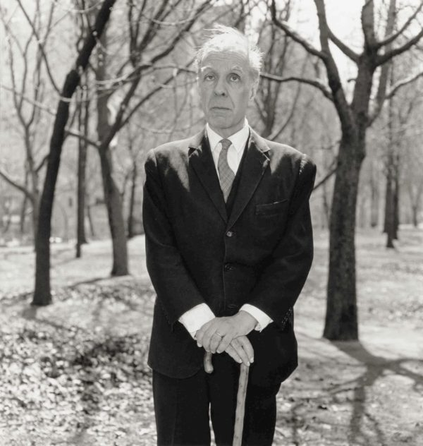 Diane Arbus, Jorge Luis Borges in Central Park, N.Y.C.