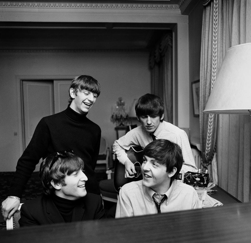 Harry Benson, Beatles Composing, Paris, 1964