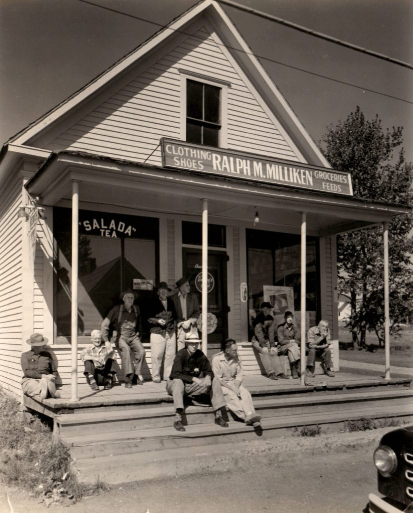 Berenice Abbott, Calais, Maine - country store on Rte. 1 near Calais