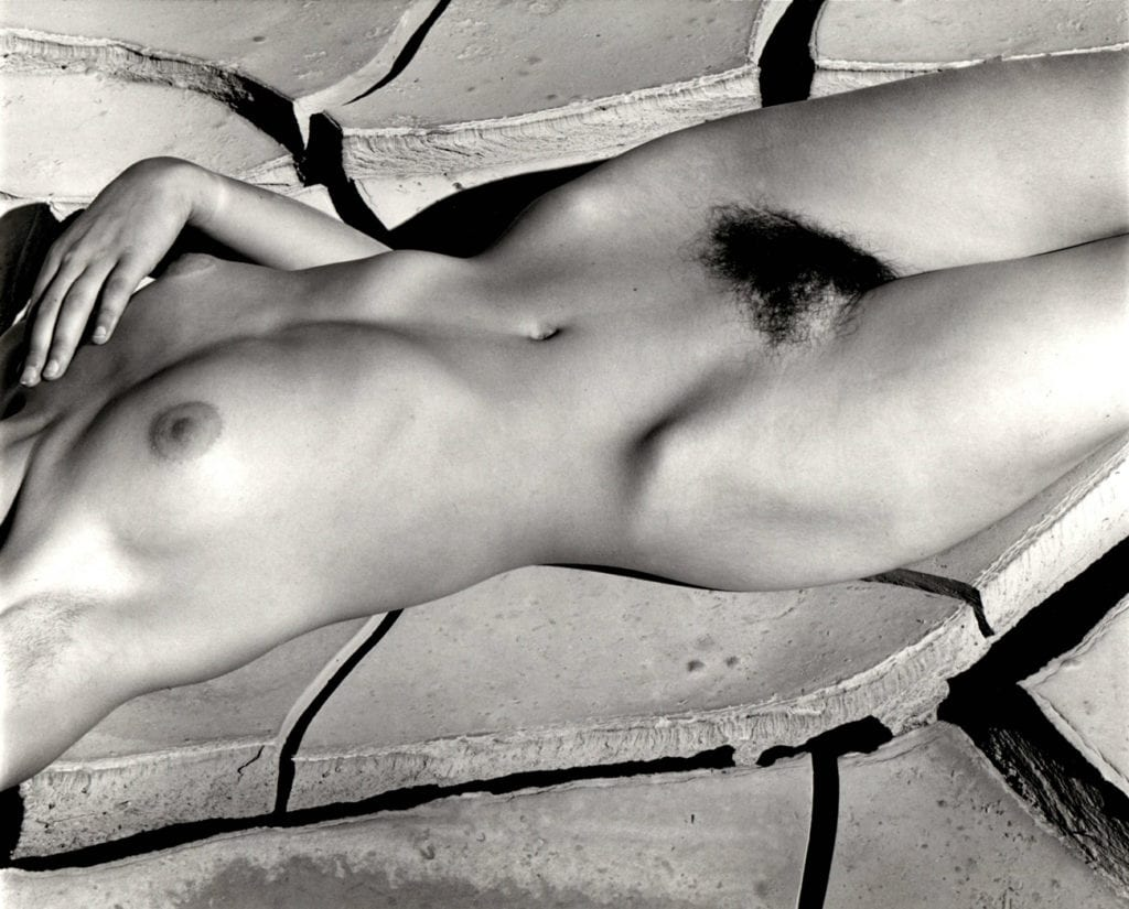Brett Weston, Classic Nude and Mud Cracks