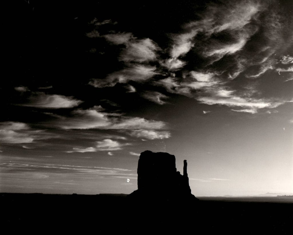 Brett Weston, Rock Formation, Monument Valley
