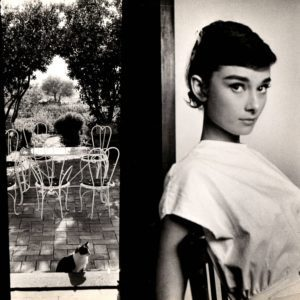 George Daniell, Audrey Hepburn (with cat)