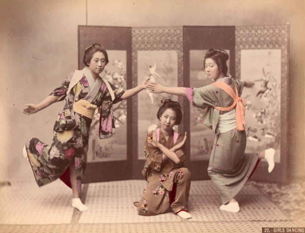 Studio of Felice Beato, Girls Dancing