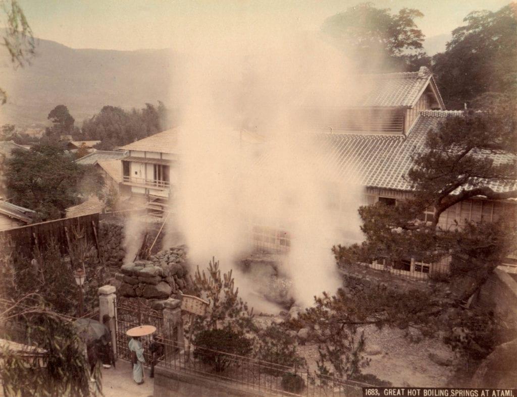 Studio of Felice Beato, Great Hot Boiling Springs at Atami
