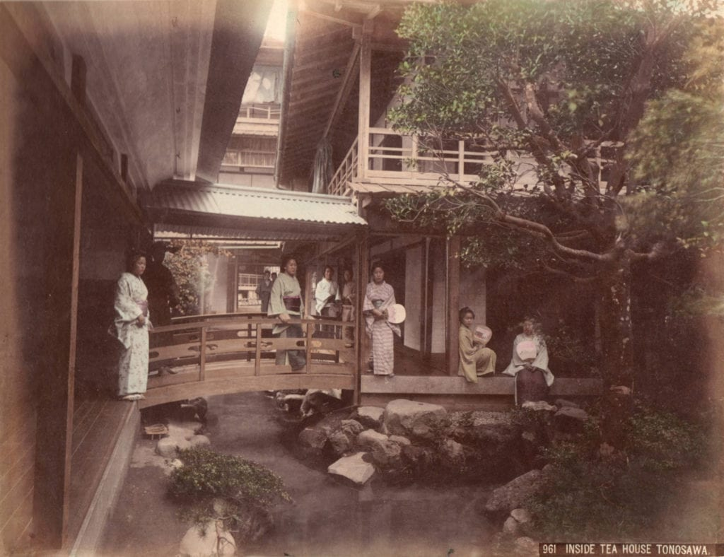 Studio of Felice Beato, Inside Tea House Tonosawa