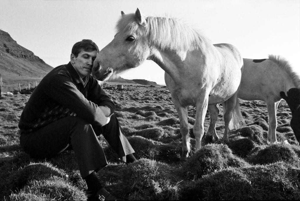 Harry Benson, Bobby Fischer with Horse, Iceland