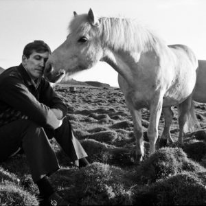 Harry Benson, Bobby Fischer with Horse, Iceland
