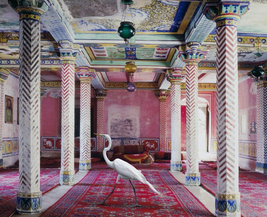 Karen Knorr, Flight to Freedom, Durbar Hall, Dungarpur