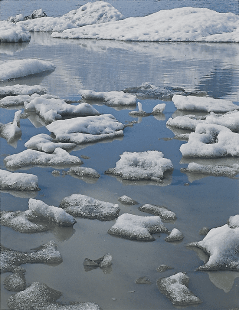 Eliot Porter, Ice in Glacial Lake, Fjnllsarlon, South Coast