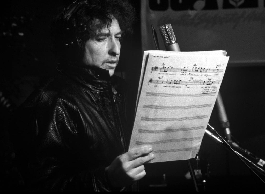 Harry Benson, Bob Dylan, USA for Africa, LA