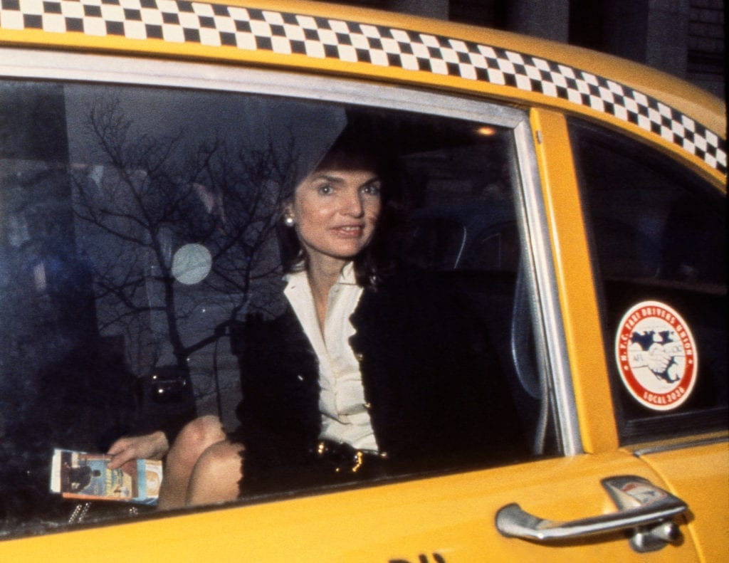 Harry Benson, Jackie Kennedy in Taxi, NY