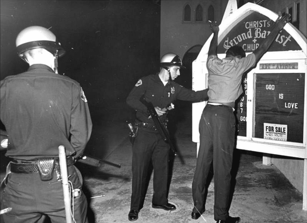 Harry Benson, God Is Love, Watts Riots, 1971, Printed 2010 Archival Pigment Photograph